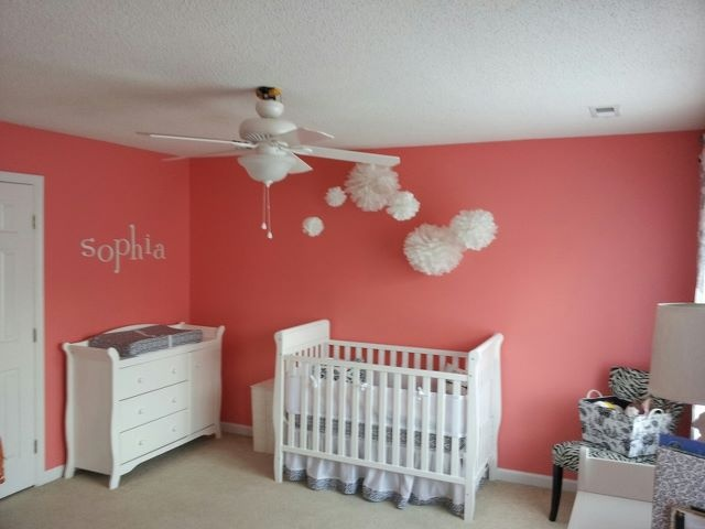 peach pink nursery: Mijit Palettes Peaches, Carolina Nurseries, Accent Wall Color, Pink Peaches, Girls Nurseries, Peaches Pink, Pink Nurseries Color