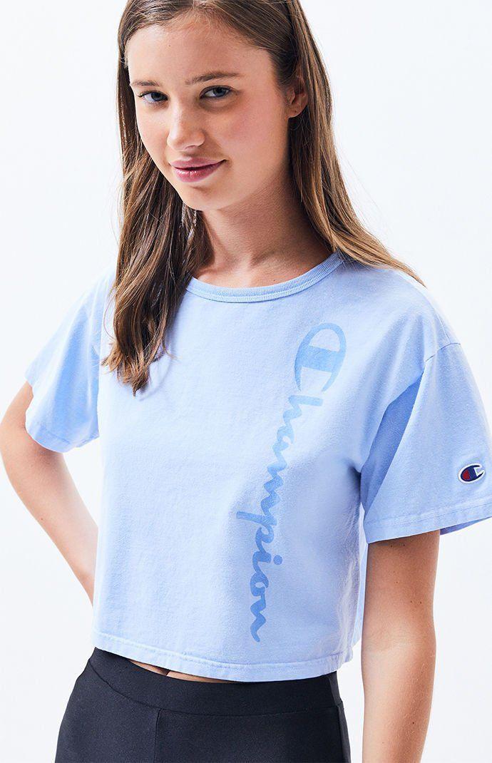 7c11993abac Champion Garment Dye Cropped T-Shirt in 2019 | Cute Clothes | Cute ...