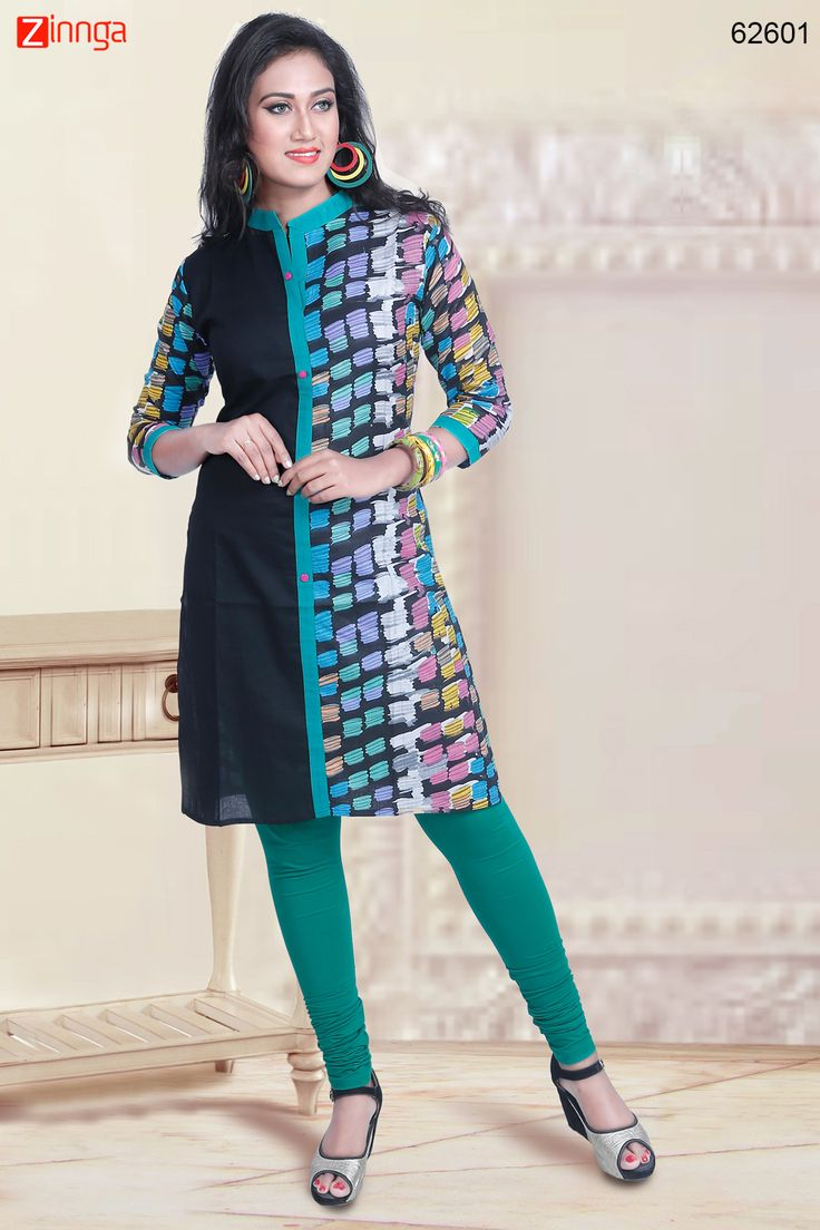 Black Color with Lace & Printed Work Incredible Readymade Kurti. Message/call/WhatsApp at +91-9246261661