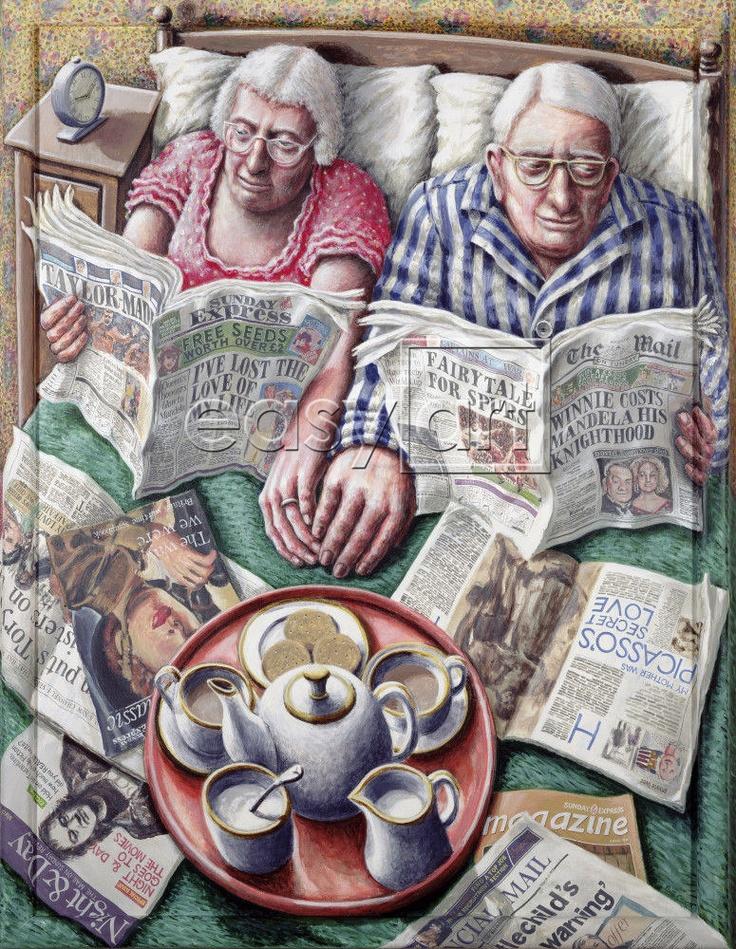 Tea in bed. over lezers ,boeken ,letters en cijfers: de krantenlezers van P. J. Crook