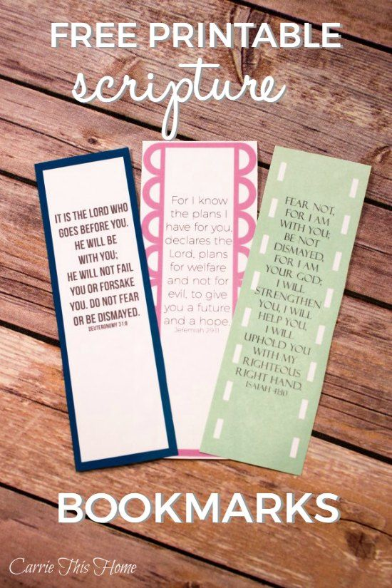This is a must-read when you need a little encouragement! Print these for yourself or give them to a friend!   Free Printable Scripture Bookmarks