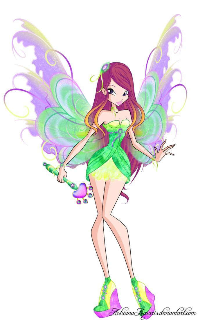 Here's Roxy, the Fairy of Animals from Winx Club in her Mythix transformat…