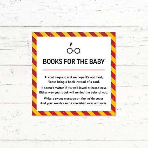Harry Potter Gryffindor Baby Shower Book Instead by CrissyDesignCo