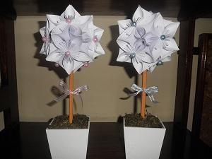 Topiario en origami