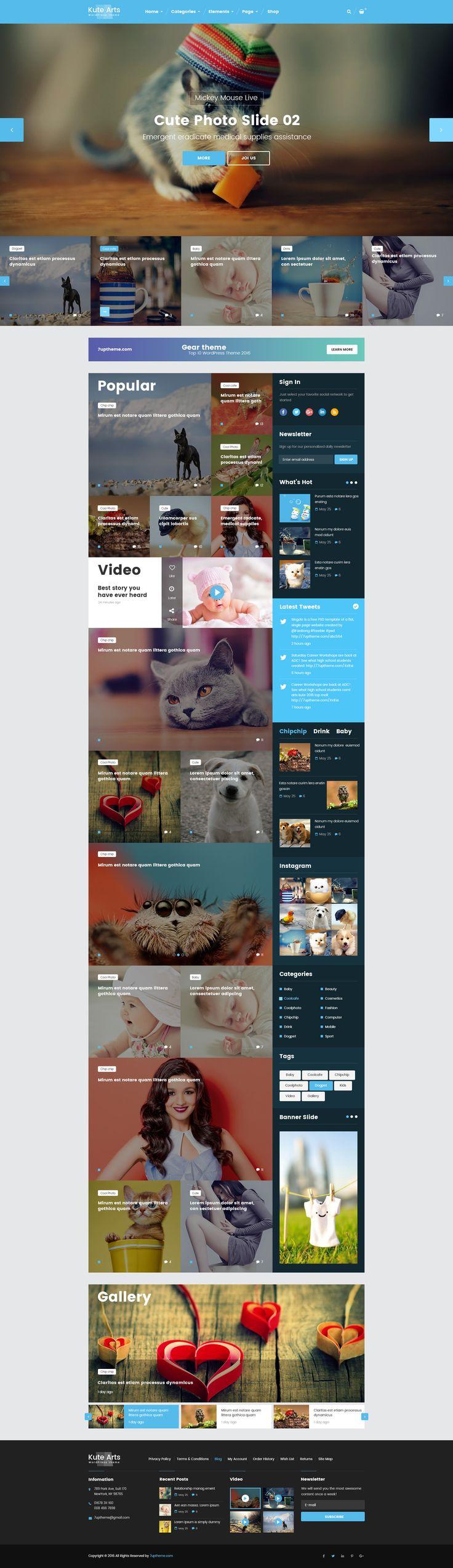Kute Arts - Creative WordPress Theme • Download ➝…