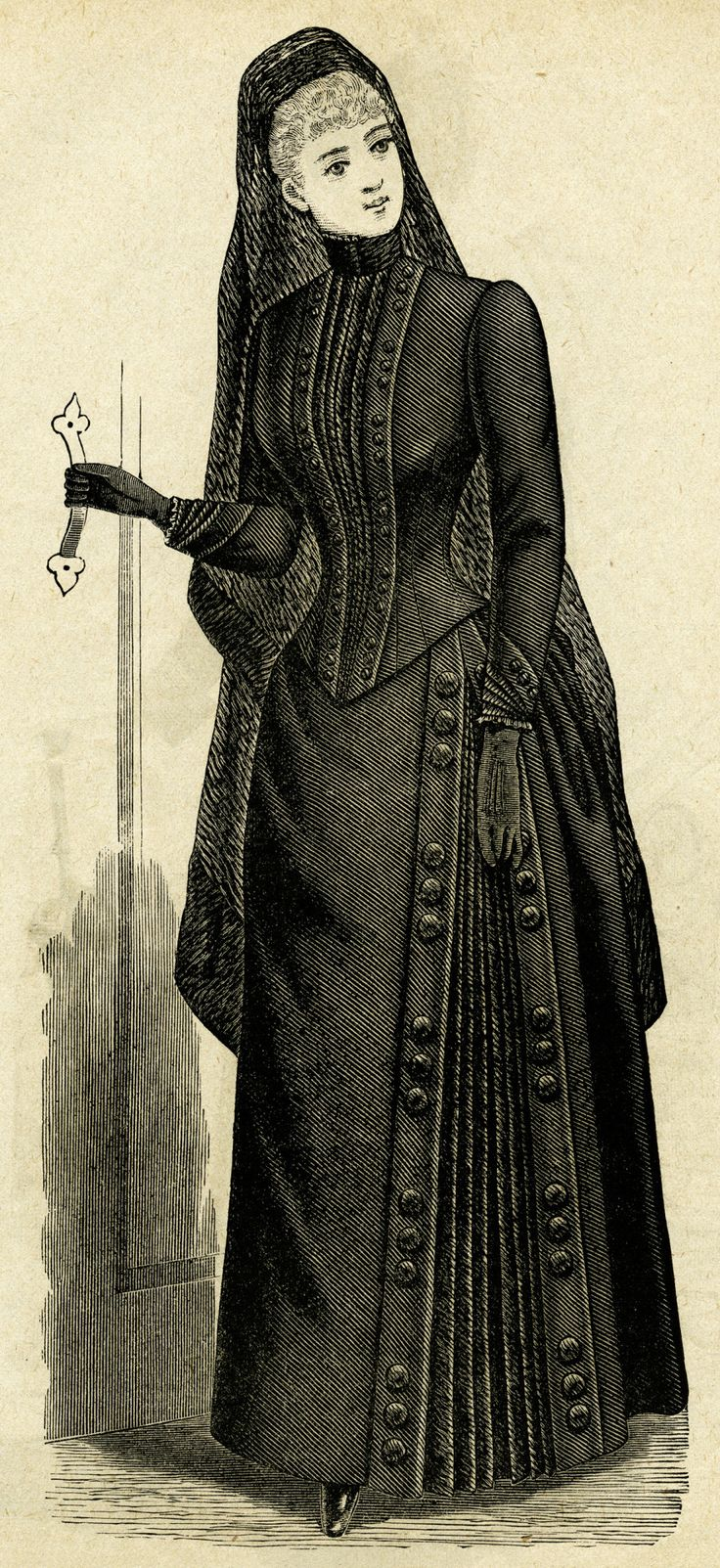 Illustration from the October 1889 issue of The Delineator Source