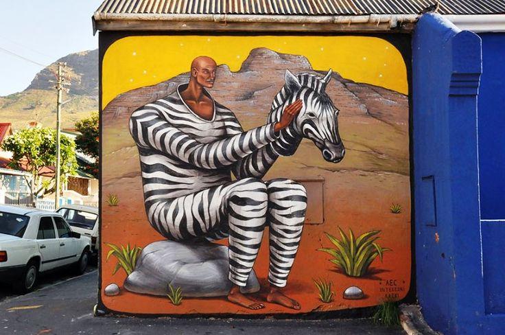 Seni Jalanan Lukisan Mural di Kota Cape Town, Afrika Selatan 1