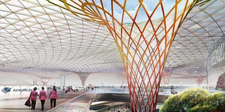 Norman Foster et un gendre de Carlos Slim dessinent l'aéroport de Mexico