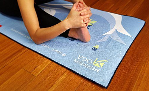 M YOGA – Yoga Towel(24″x72″), NON-SLIP & Skidless Yoga Towel, Silicone Dots & Anchor Fit Corners, Stop Slipping