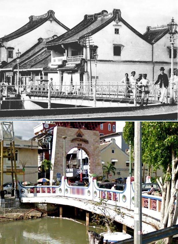 De Pasar Baroe-brug, Batavia, 1890 1910, ,., Jembatan Pasar Baru, Jakarta, 2017