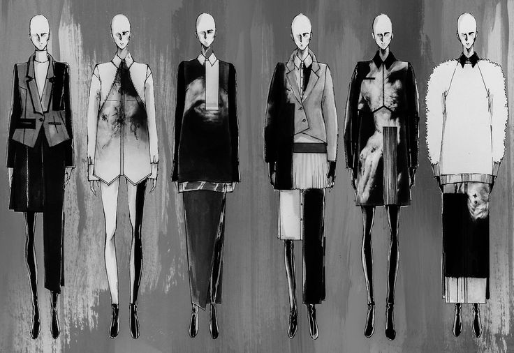 Fashion Sketchbook - fashion design drawings; lineup illustrations; fashion sketches // Peter Do