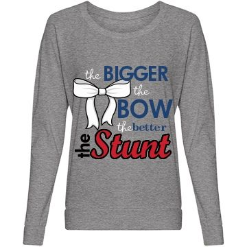 Big Bow Big Stunt Cheer Misses Alternative Apparel Eco-Jersey Lightweight Slouchy Pullover