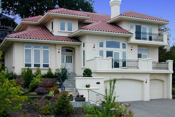 Fachadas de casas residenciales grandes