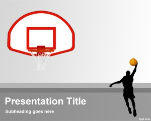 Basketball Background PPT - You can use this for Basketball clinics presentations and for championships or other Basketball events.