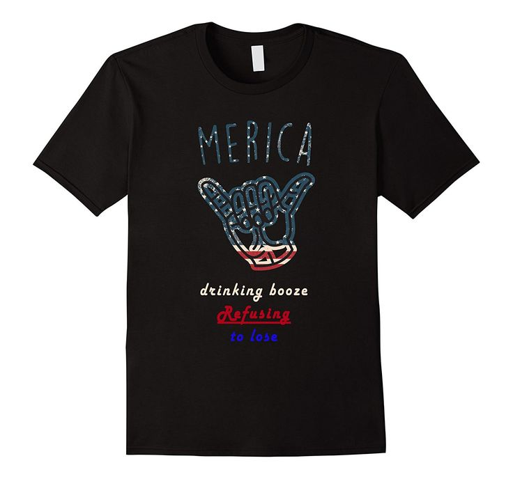Merica T-Shirt 4th of July Drinking Tee