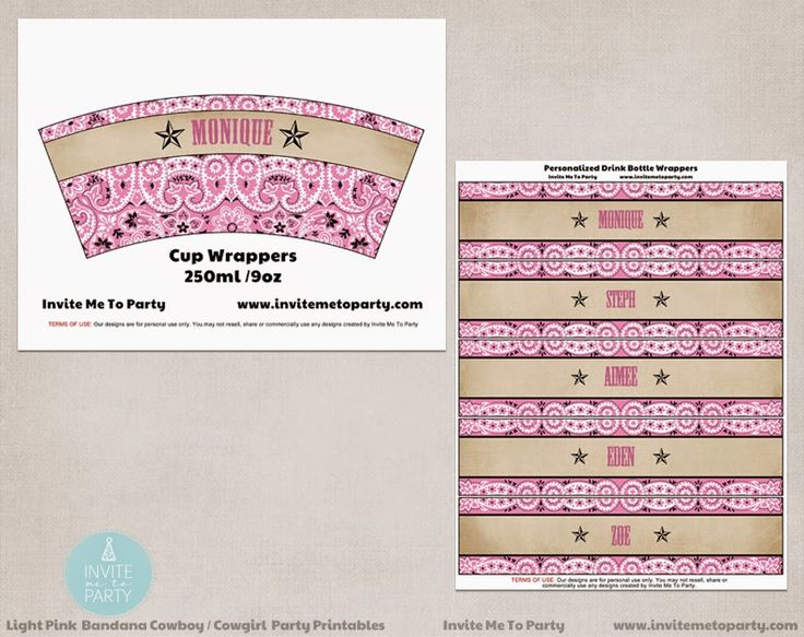 Western Party Invite Me To Party: Cowboy Party / Cowgirl Party