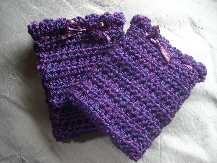 Purple passion fingerless mitts