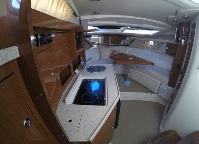 View of the air conditioned cabin.