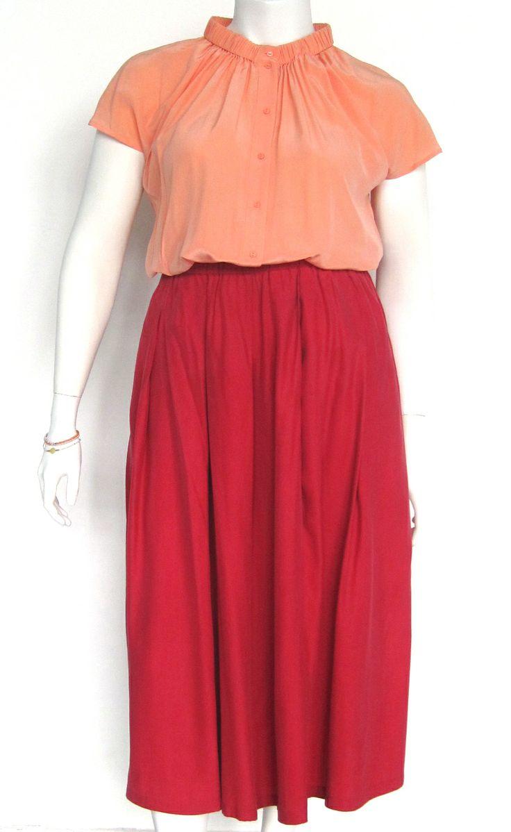 Vintage zijden rok