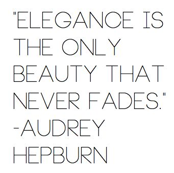 """Elegance is the only beauty that never fades"" #audreyhepburn #beautypedia"