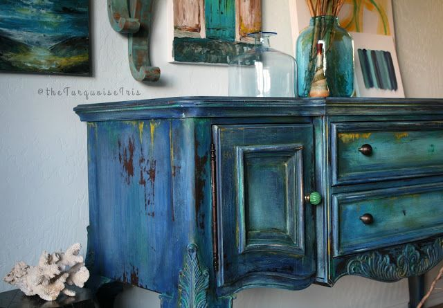 Merveilleux The Turquoise Iris ~ Vintage Modern Hand Painted Furniture: Iu0027m Being A  Cheater