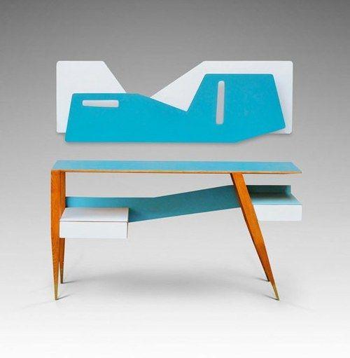 Modern/classic Italian design / Gio Ponti desk, presented in Milan, 1957