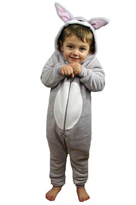 TopsandDresses - Pijama de una pieza - para niña Marrón Fluffy Rabbit Años 10-11 Años