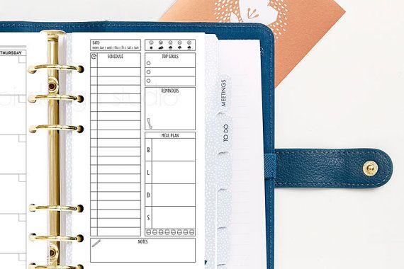 Planner giornaliero formato Personal Daily di AlibiDesignStudio