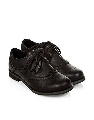 Boy Brogue | Black | Monsoon