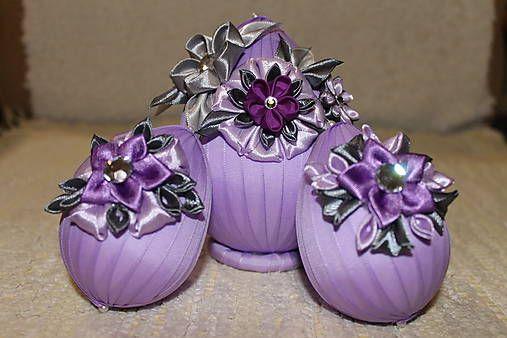 Fialovo-šedé veľkonočné vajcia / armas - SAShE.sk - Handmade Dekorácie