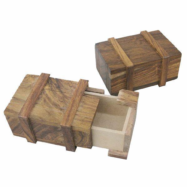 Geheime Maritime Kiste Holz, 7,5x5x3,5cm