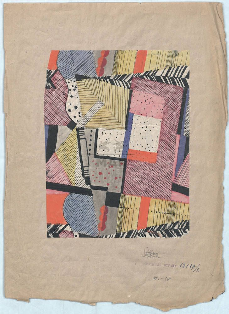 Wiener Werkstatte via MAK - gives me a great idea for my memory art quilt!
