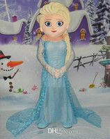 mascot cartoon character costume - Frozen Princess Elsa Mascot Costume EVA Adult Size Frozen Alsa Cartoon Character Costumes Party Costume Fancy Dress
