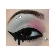 Image result for pastel goth makeup for school                              …