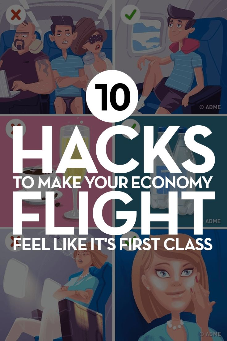 10 Hacks To Make Your Economy Flight Feel Like It's First Class  #flighthacks #flight #hacks #tips #plane