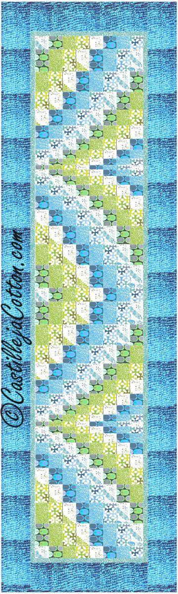Bargello Ribbons Quilt Pattern Fabrics: www.ebifabricsquilting.com Modern Florish