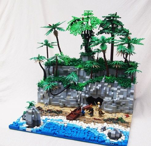 Pirate island made out Legos. I will try to recreate this in my Roblox project.