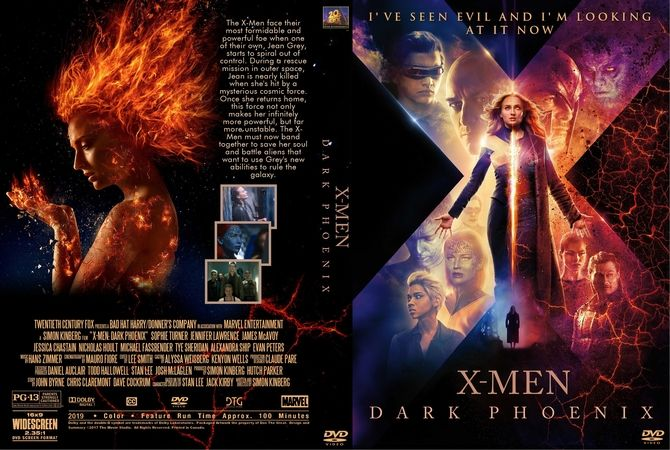 X-men: Dark Phoenix (2019) DVD Custom Cover | Custom DVD ...