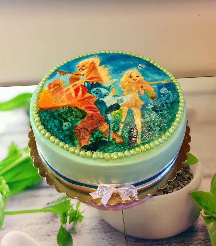 2017/10/13 hand painted cake