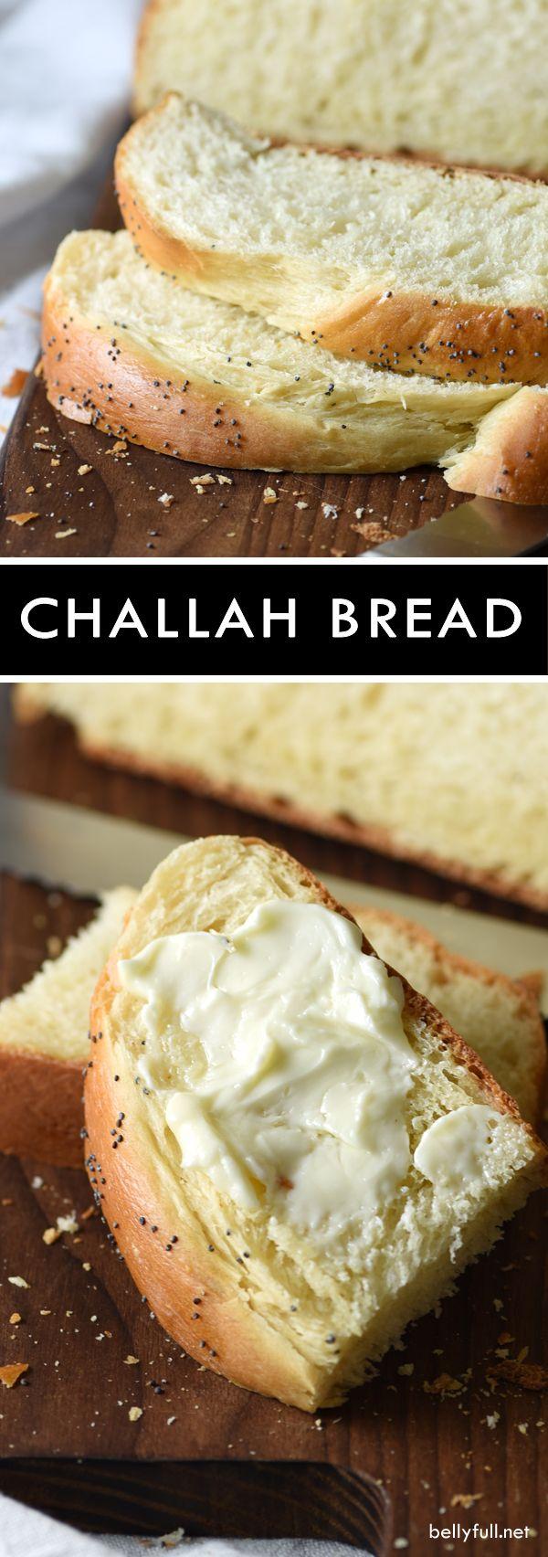 Challah bread - Challah es un pan de almohada-y rico y ligeramente dulce que es tanto un placer comer y mirar.  Suena extravagante, pero en realidad es muy fácil de hacer!