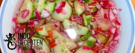 Acar Ketimun Biasa - Zoet/zure pittige komkommer