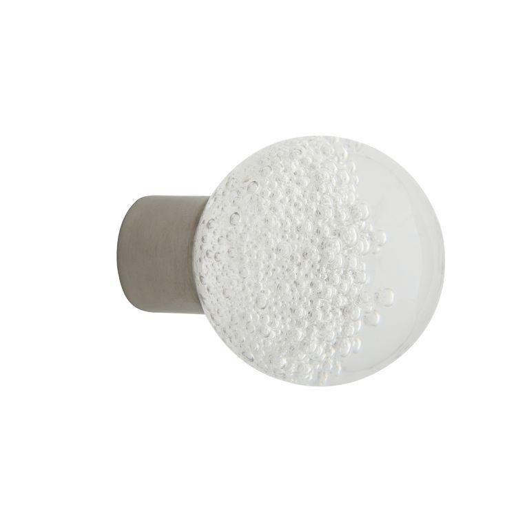 Bouton de meuble gamme séduction microbulles incolore Fait main