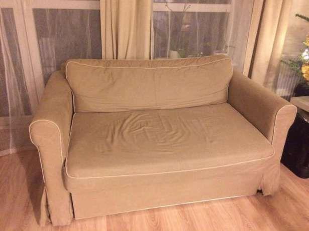 250 zł: Witam! Mam do sprzedania dwuosobową, rozkładaną sofę. Sofa posiada pojemnik na pościel. Została zakupiona dwa lata temu w IKEA. Stan bardzo dobry ze względu na niezbyt częste użytkowanie. Wymiary: W...
