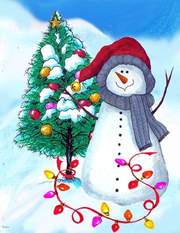 JAMIE CARTER Snowman Holiday