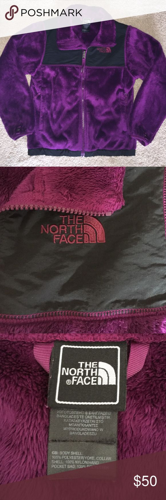 Like new Girls North Face Fleece Like new girls North Face fleece. Great color!  Super soft and comfy warm. Zip up and zip pockets. The North Face Jackets & Coats