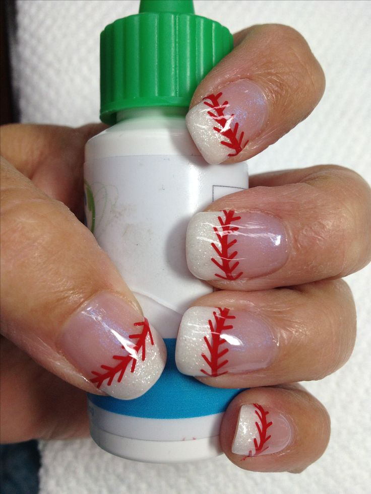 My baseball organic gel nails - 25+ Beautiful Baseball Nail Designs Ideas On Pinterest Softball
