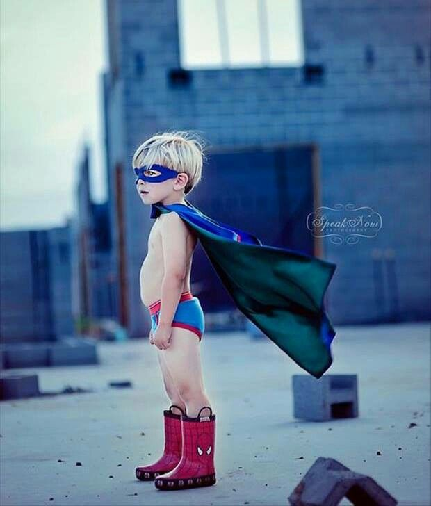 Future superhero.This punk is wearing My Cape & Boots. GIVE THEM BACK or else.