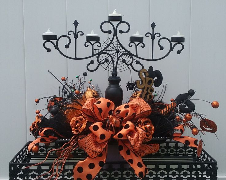 halloween centerpiece candelabra halloween decor queen of halloween halloween candle holder spooky witch - Halloween Centerpiece