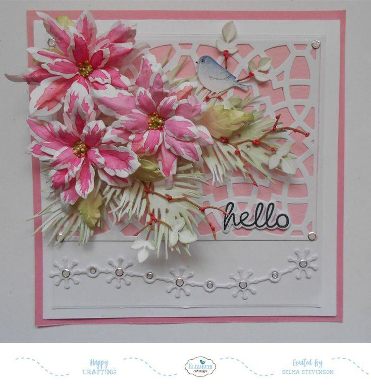 Pink Marble Poinsettias