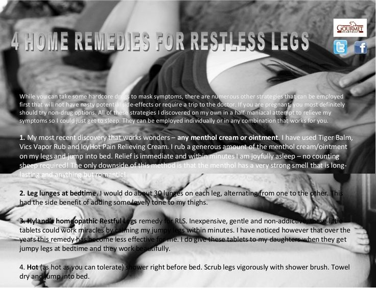 4-home-remedies-for-restless-legs by Arnie Kaye Dillen via Slideshare